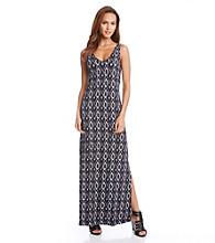 Karen Kane® Diamond Ikat Maxi Dress