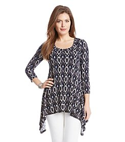 Karen Kane® Diamond Ikat Handkerchief Top