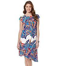 Rafaella® Fractured Stripe Dress