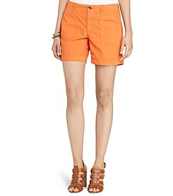 Lauren Jeans Co.® Cotton Twill Shorts