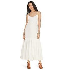 Lauren Jeans Co.® Embroidered Cotton Maxi Dress