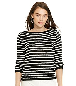 Lauren Jeans Co.® Striped Bateau-Neck Sweater