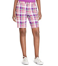 Lauren Jeans Co.® Plaid Stretch Cotton Shorts