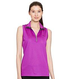 Lauren Active® Pique Mesh Sleeveless Pullover