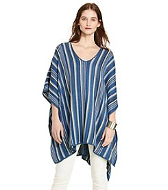 Lauren Jeans Co.® Striped Linen-Cotton Poncho