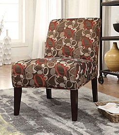 Acme Aberly Circle Abstract Accent Chair