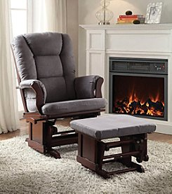 Acme Aeron Glider Chair with Ottoman Set