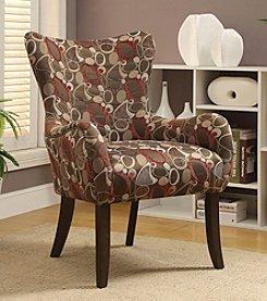 Acme Gabir Circle Abstract Accent Chair