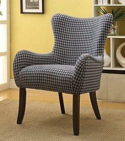Acme Gabir Checkered Accent Chair
