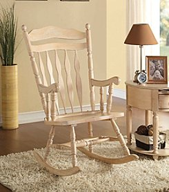 Acme Kloris Whitewashed Rocking Chair
