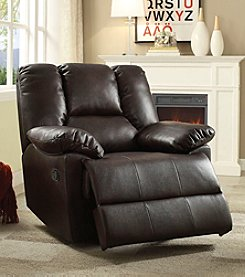 Acme Oliver Leather-Aire Glider Recliner