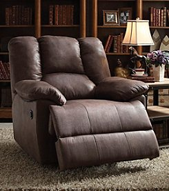 Acme Oliver Polished Microfiber Power Motion Recliner