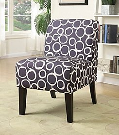 Acme Ollano Circle Abstract Accent Chair