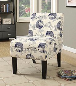 Acme Ollano Dark Blue Fish Accent Chair