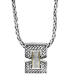Effy® 925 Collection 0.14 Ct. T.W. Diamond Pendant In Sterling Silver/18K Gold