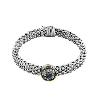 Effy® 925 Collection Green Amethyst Tennis Bracelet In Sterling Silver