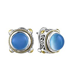 Effy® 925 Collection Chalcedony Quartz Earrings In Sterling Silver With 18K Gold Accents