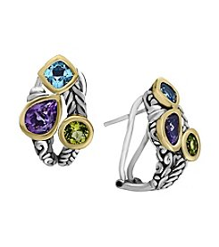 Effy® 925 Collection Multi Gem Earrings In Sterling Silver