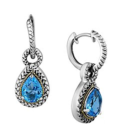 Effy® 925 Collection Blue Topaz Earrings In Sterling Silver