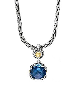 Effy® 925 Collection Blue Topaz Pendant In Sterling Silver