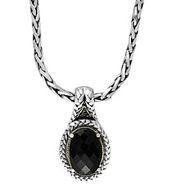 Effy® 925 Collection Onyx Pendant In Sterling Silver