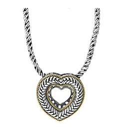 Effy® 925 Collection Sterling Silver and Gold Heart Pendant