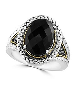 Effy® 925 Collection Onyx Ring In Sterling Silver
