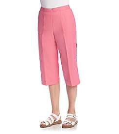 Alfred Dunner® Petites' Acapulco Solid Capri Pants