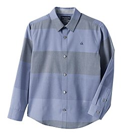 Calvin Klein Jeans® Boys' 8-20 Long Sleeve Wide Horizontal Striped Shirt