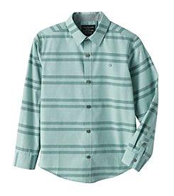 Calvin Klein Jeans® Boys' 8-20 Long Sleeve Horizontal Striped Shirt