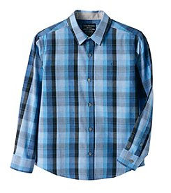 Calvin Klein Jeans® Boys' 8-20 Long Sleeve Plaid Shirt