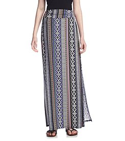 Sequin Hearts® Printed Maxi Skirt With Side Slit