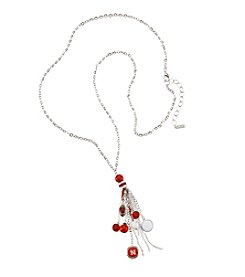 accessory PLAYS™ NCAA University Of Nebraska Tassel And Football Necklace