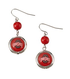 accessory PLAYS™ NCAA® Ohio State University Disc Drop Earrings