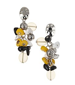 Laura Ashley® Button Top Cluster Earrings
