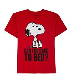 Peanuts® Boys' 8-20 Short Sleeve Back To Bed Snoopy® Tee