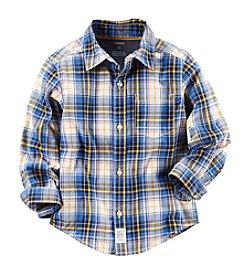 Carter's® Boys' 2T-8 Long Sleeve Plaid Shirt