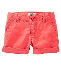 OshKosh B'Gosh® Girls' 4-6X Roll Cuff Shorts