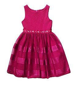 Sweet Heart Rose® Girls' 2T-6X Metallic Ribbon Dress