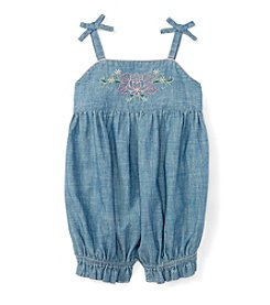 Ralph Lauren Baby Girls' Embroidered Bubble Shortall