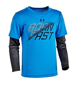Under Armour® Boys' 2T-7 Long Sleeve Born Fast Layered Tee