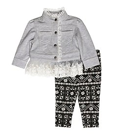 Wendy Bellissimo® Baby Girls' 2-Piece Lace Jacket And Leggings Set