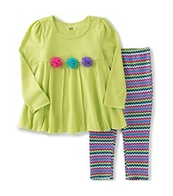 Kids Headquarters® Baby Girls' 2-Piece Rosettes Tunic And Leggings Set