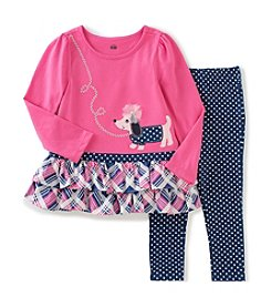 Kids Headquarters® Baby Girls' 2-Piece Dog Tunic And Leggings Set