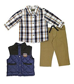 Nannette® Baby Boys 3-Piece Moose Peak Vest Set