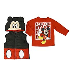 Nannette® Baby Boys 2-Piece Mickey Mouse® Vest Set