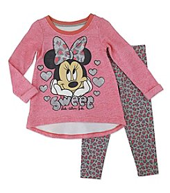 Nannette® Baby Girls' 2-Piece Sweet As Can Be Top And Leggings Set