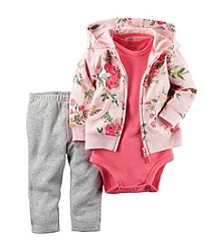 Carter's® Baby Girls' 3-Piece Floral Hoodie Set