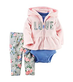 Carter's® Baby Girls' 3-Piece Love Hoodie Set