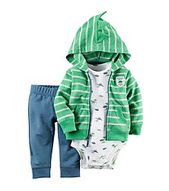 Carter's® Baby Boys 3-Piece Dino Hoodie Set